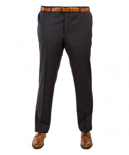 Anzug-Hose Flat-Front Anthrazit oder Schwarz