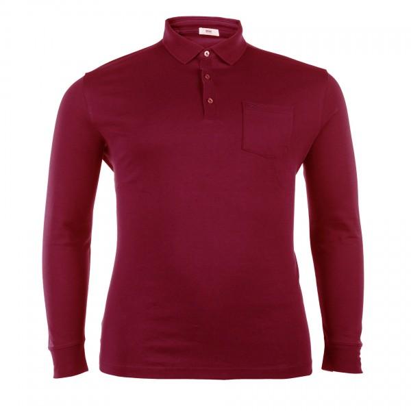 Polo-Shirt mit Knopfleiste langarm Jersey Basic