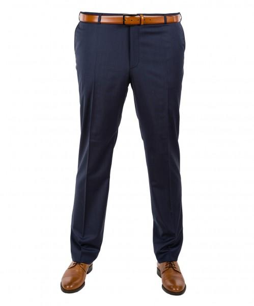 Anzug-Hose Flat-Front in Blau