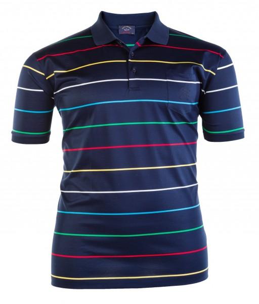 Polo-Shirt mit Knopfleiste kurzarm Jersey Basic