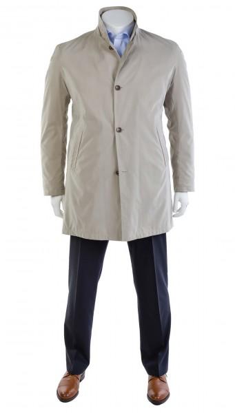 Mantel Baumwoll-Popeline Einreiher